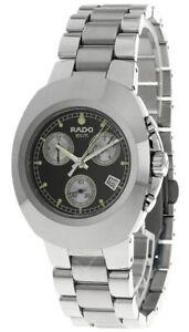 RADO Diastar CHRONO Quartz SS Black Dial Men's Watch R12638183