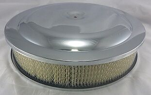 "CHROME AIR CLEANER ASSEMBLY 14"" X 3"" SET UP"