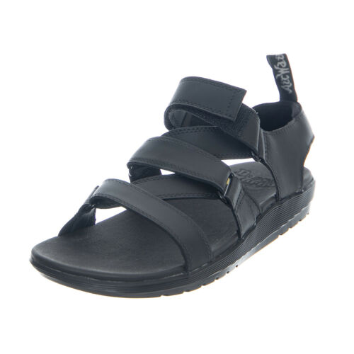 Dr.Martens At Redfin Black Hydro Leather Women/'s Sandals Black