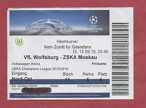 SELTEN Orig.Ticket   Champions League  14//15  BAYERN MÜNCHEN ZSKA MOSKAU  !
