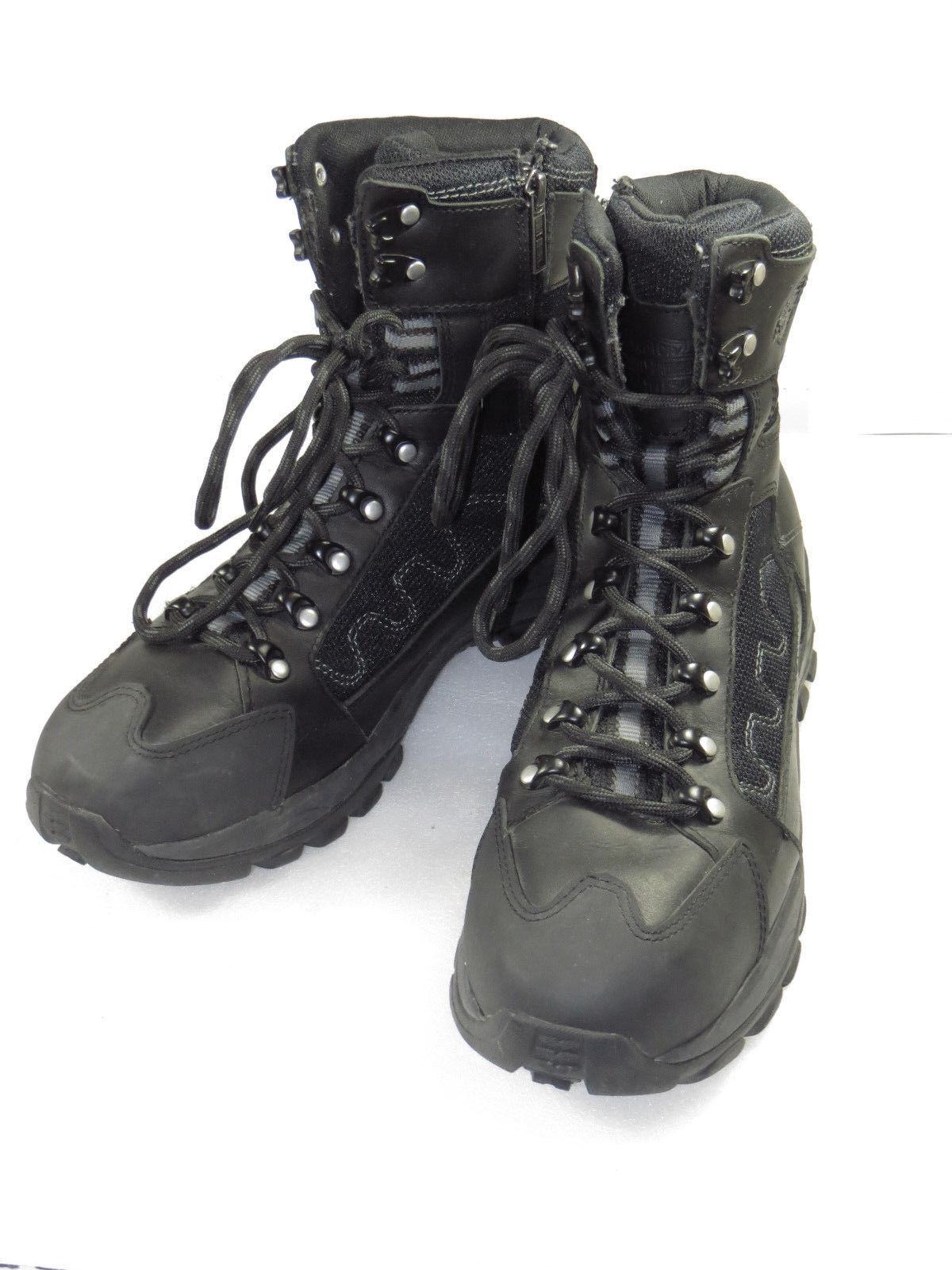 GR8 Mens Harley Davidson leather  mesh comfy,Boot Comfy11M lace,side zip