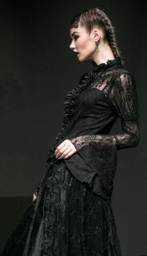 Trompe Bustier Chemise L'oeil Lolita Gothique Burlesque Punkrave Dentelle Corset zgItg