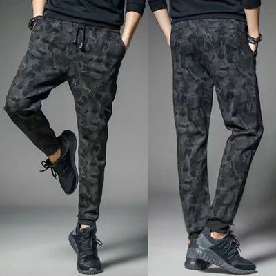 Mens Military Camouflage Camo Casual Pants Boy Joggers Sport Sweatpants Trousers
