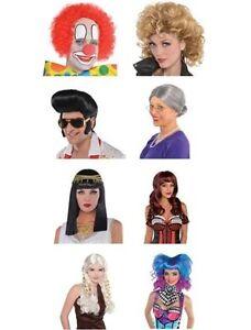 Perruque-Deguisement-cheveux-piece-enfant-adultes-amusant-fete-couleur