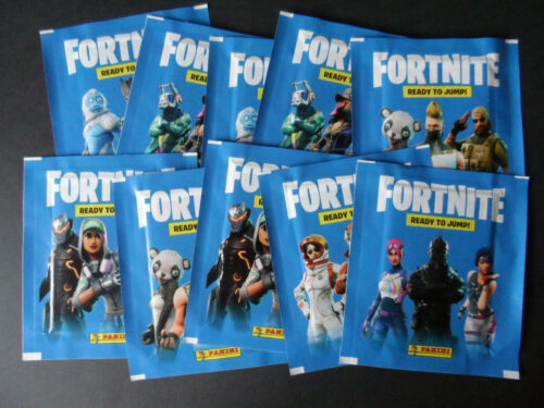 PANINI FORTNITE READY TO JUMP STICKERS 10 UNOPENED PACKS SEALED.