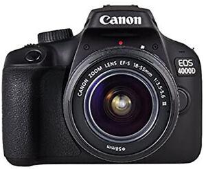 Canon EOS 4000D + 18-55 DC III F3.5-5.6 GARANZIA UFFICIALE 2 ANNI ITALIA