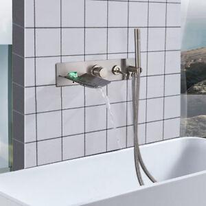 Led Waterfall Tub Filler Faucet