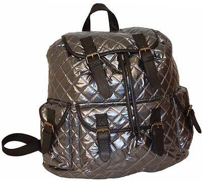 Womens Handbag Backpack Girls School Bag Overnight Silver Travel Rucksack