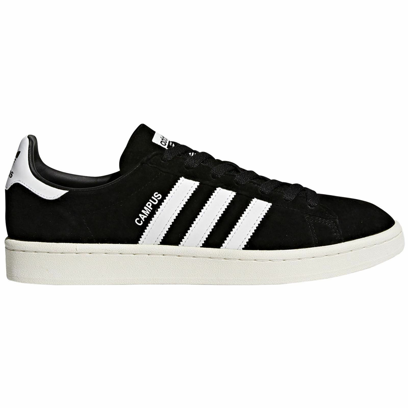 Calzado Adidas Campus Core Negro blancooo Para hombre Nubuck Zapatillas Bajo Top tenis