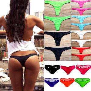 60c5daab42 Image is loading UK-Women-Bikini-Bottom-Brazilian-Cheeky-Thong-V-