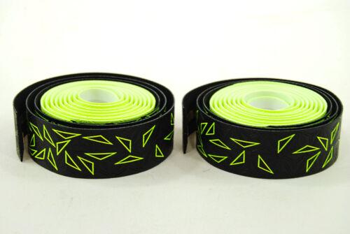 Star Fade Neon Yellow//Black Supacaz Super Sticky Kush Road Bike Handlebar Tape