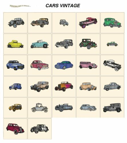 CD or USB machine embroidery designs files many formats pes etc CARS VINTAGE