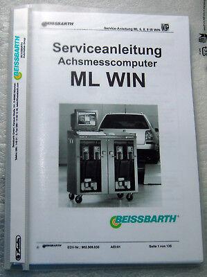 Istruzioni Di Servizio Beissbarth Ml-win 6,8,8ir Win-ng Beissbarth Ml-win 6,8,8ir Win It-it Assicurare Anni Di Servizio Senza Problemi