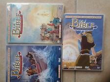 21901//LA BIBLE POUR LES ENFANTS LE NOUVEAU TESTAMENT VOLUME 1 + 2/ DVD EN TBE