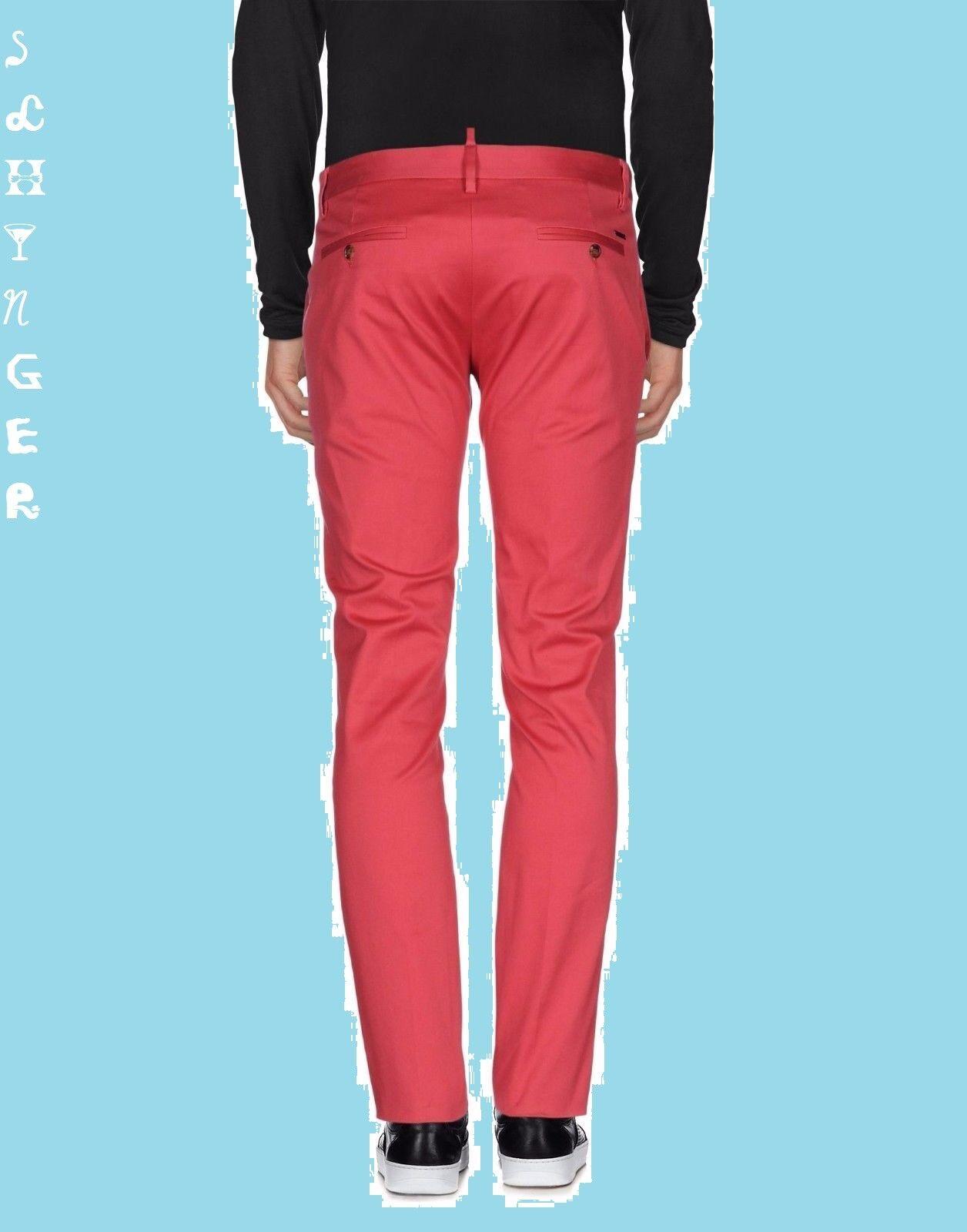 DSQUARED2 DSQUARED2 DSQUARED2 PANTALONES rossoS Dimensione 50 PANTS TROUSERS 27b296
