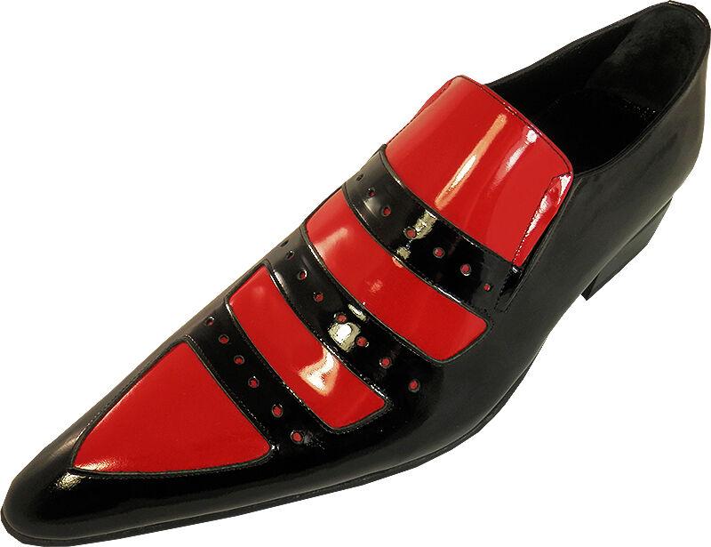 Original Chelsy - Italiano Diseñador Hecho a Mano Zapato Cuero Auténtico Rojo