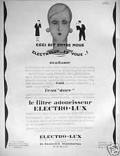 PUBLICITÉ ELECTRO-LUX LE FILTRE ADOUCISSEUR D'EAU CECI DIT ENTRE NOUS