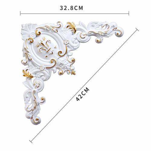 1x Victorian Ornate Decorative PVC Wall Applique Corners Moulding Mold Onlay Art