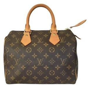 007bf119ee Image is loading Pre-Owned-Authentic-Louis-Vuitton-Monogram-Canvas-Leather-