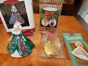BARBIE HALLMARK CHRISTMAS TREE ORNAMENTS KEEPSAKE HOLIDAY ...