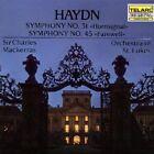 "Haydn: Symphonies Nos. 31 ""Hornsignal"" & 45 ""Farewell"" (CD, Aug-1989, Telarc Distribution)"