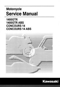 Kawasaki Concours 14 2015 2016 2017 2018 2019 1400gtr Service Repair Manual Ebay