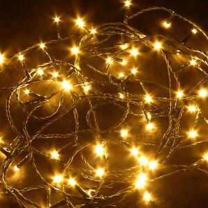 Weihnachtsbeleuchtung Für Draußen.Details Zu 40 80 180 360 Led Lichterkette Mit 8 Std Timer Weihnachtsbeleuchtung Außen Ip44