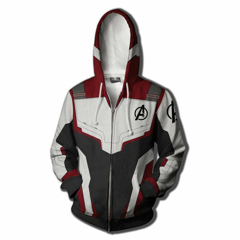 buy popular b329b b2c3e THE AVENGERS 4 Endgame Felpe stampate 3D Uomo Cappotti giacca felpa con  cerniera