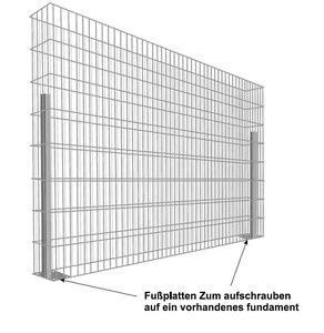 Details zu Gabionen Zaun Steine Gabionenwand Steinzaun Stein Drahtkorb  Sondermaß T:40cm