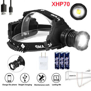 Super-Bright-200000lm-xhp70-Led-Headlamp-usb-Rechargeable-Head-Torch-3-18650