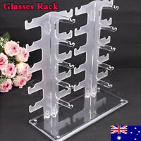 10 Pair 2 Row Sunglasses Eyeglasses Glasses Frame Display Stand Rack Holder -gh