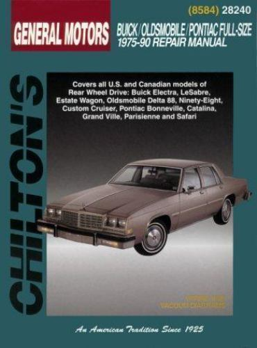 total car care repair manuals gm full size buick oldsmobile and rh ebay com 1988 Pontiac Bonneville 1998 pontiac bonneville repair manual