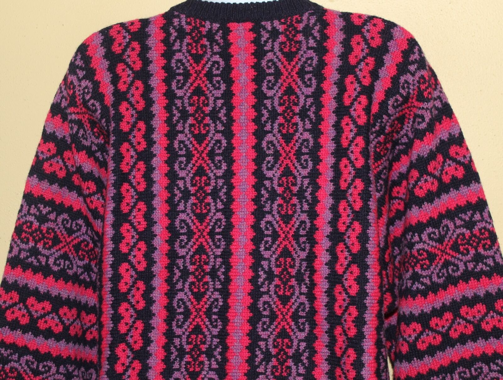 Jennie Ross Fiber Artist Scotland Scotland Scotland Folk Nordic Fantasy Wool Knit Sweater Sz M c6d56d