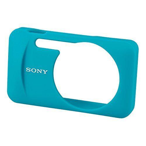 Genuino Funda Sony Silicon Chaqueta LCJ-wb//L Azul Para DSC-WX60W