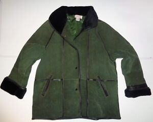 20 Split Fur Claire 24 Green Neuville Poppers Coat Pig Faux Dark Ladies Size Iwa8qwB