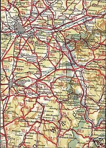 Germany Frankfurt Darmstadt Hesse Map Postcard 1940s Ebay