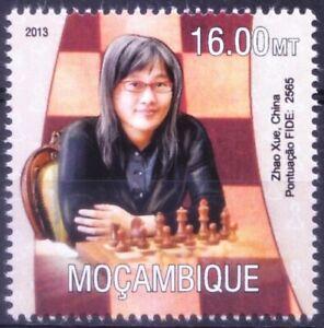 Mozambique 2013 MNH, Zhao Xue Chinese Women Chess player, Sports