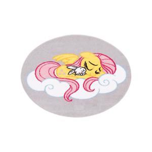 """Runder Spielteppich Kinderteppich Kinderzimmer My little Pony /""""Dreams/"""" Grau"""