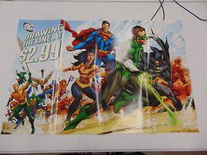DC-COMICS-DRAWING-THE-LINE-AT-2-99-JLA-BATMAN-COVER-POSTER-PROMOTIONAL-GM1161