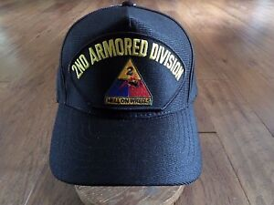 U.S ARMY 2ND ARMORED DIVISION HAT U.S MILITARY OFFICIAL BALL CAP ... d6fedcb386d