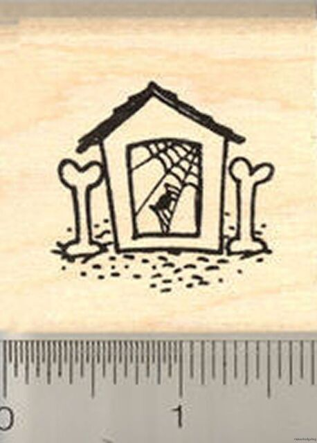 Fetching Skeleton Arm D22418  WM Halloween Dog Rubber Stamp