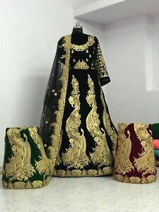 Free Shipping Little Alu Bridal Beauty Pakistani Velvet