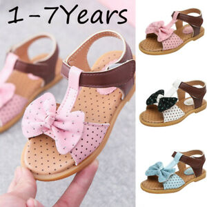 Toddler-Infant-Kids-Baby-Girls-Butterfly-Knot-Single-Princess-Shoes-Sandals