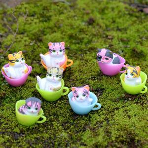 Dessert-Tassen-Katze-Mikro-Landschaften-Deko-Kinder-Geschenk-Zufaellige-FarbJ-YT