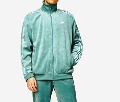 DemüTigen Adidas Originals Cozy Velour Tracktop Vapour Steel Bnwt Size M-xxl Last 4