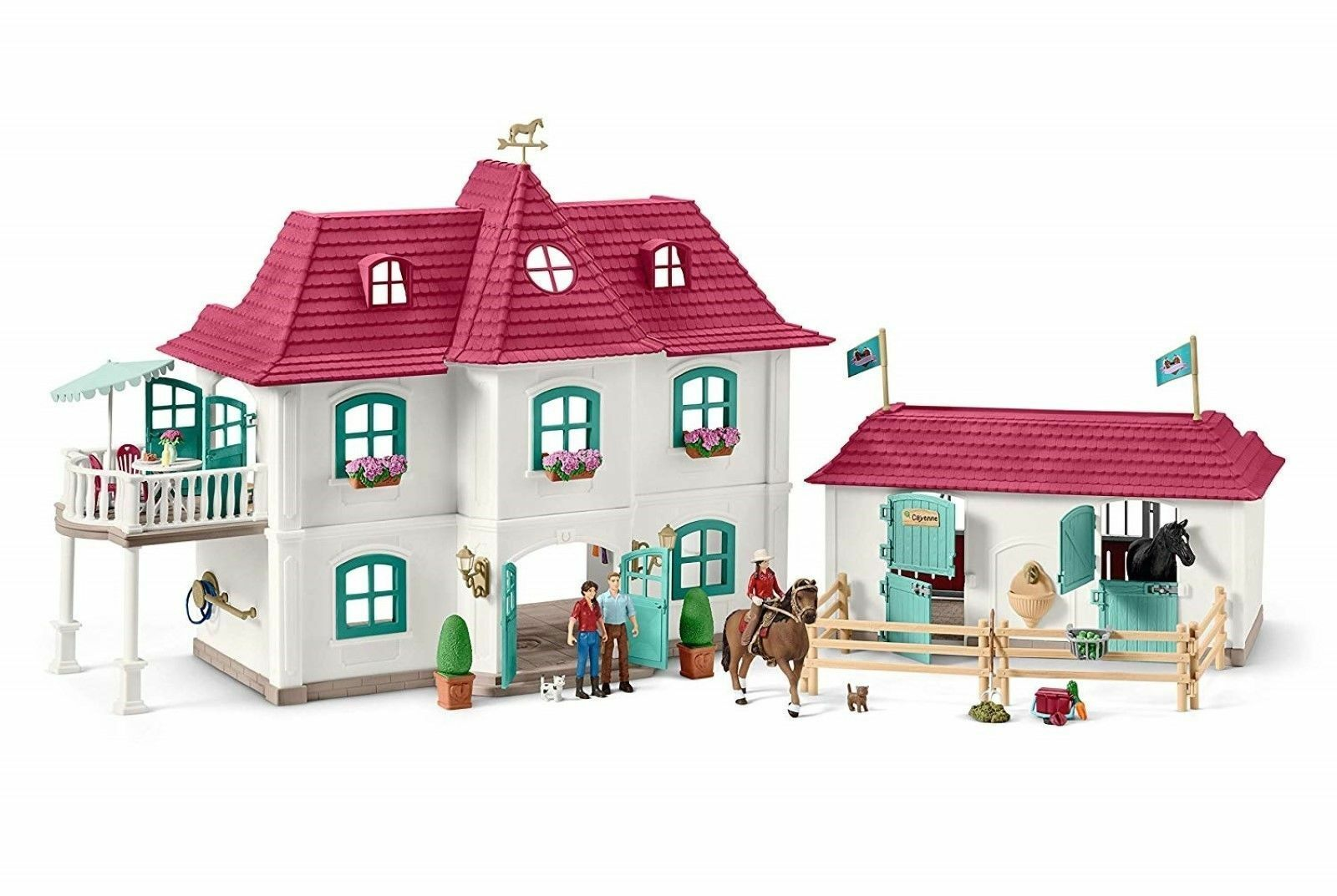 New Schleich 42416 Large Horse Stable with House Horses & Accessories Horse Club