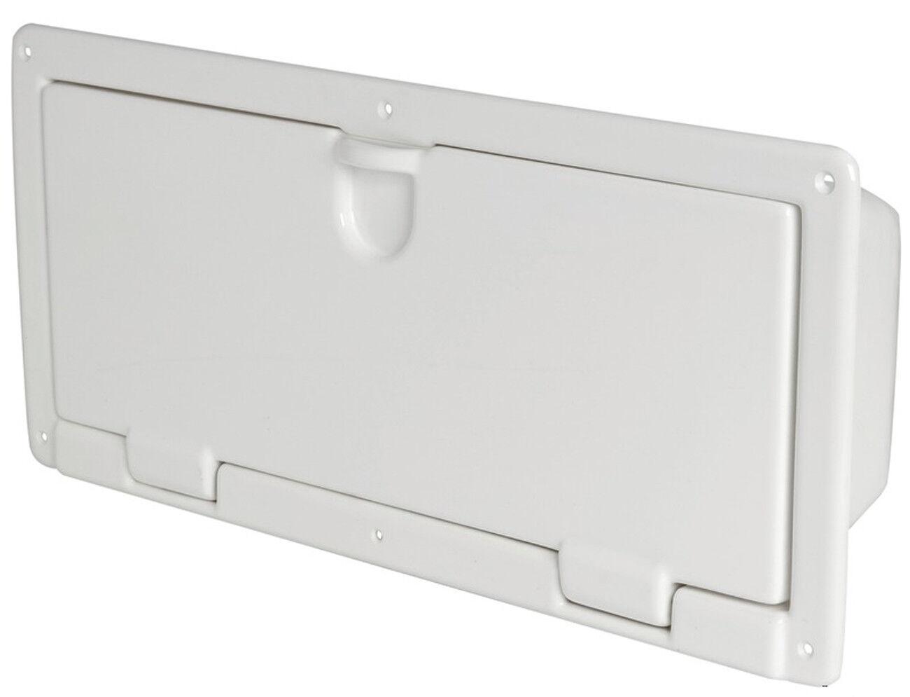 Osculati ABS Ablage-Kasten zum Wandeinbau 540x244mm - weiß - Stiefel Fach Schrank