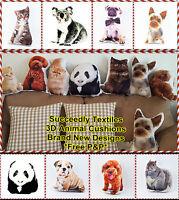3D Animals Shaped Sofa Bed Cushion / Pillows Digital Soft Cushions Digital Print