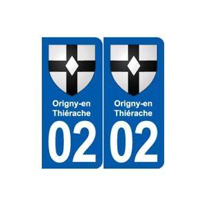 02 Origny-en-thiérache Blason Ville Autocollant Plaque Sticker