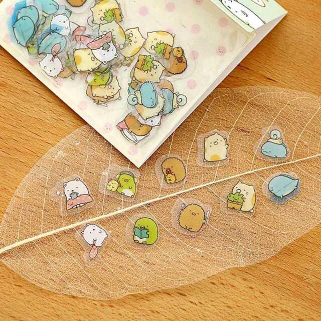 Sumikko Gurashi Stickers Cute Anlimals DIY Stickers Japanese Gift Kawaii St T4Z6